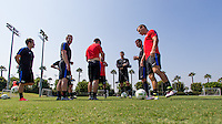 Carson, CA - August 23, 2016: The  U.S. Paralympic National Team trains in preparation for the 2016 Rio Paralympic Games at StubHub Center.