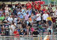 BOYDS, MARYLAND - July 22, 2012:  Fans of DC United Women at the end of the game against the Charlotte Lady Eagles for the W League Eastern Conference Championship at Maryland Soccerplex, in Boyds, Maryland on July 22. DC United Women won 3-0.