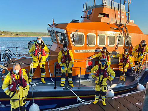 Courtmacsherry RNLI Lifeboat crew after today's call out