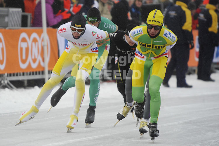 schaatsen nk marathon heren zuidlaardermeer 10-02-2010 de achtervolgers met arjan becker