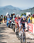 Jay Vine (AUS) Alpecin-Fenix and Jesus Herrada (ESP) Cofidis from the breakaway during Stage 14 of La Vuelta d'Espana 2021, running 165.7km from Don Benito to Pico Villuercas, Spain. 28th August 2021.     <br /> Picture: Unipublic/Charly Lopez   Cyclefile<br /> <br /> All photos usage must carry mandatory copyright credit (© Cyclefile   Charly Lopez/Unipublic)