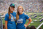Aug. 30, 3014; Students wear The Shirt in Notre Dame Stadium during the season opening football game against Rice..Photo by Peter Ringenberg/University of Notre Dame