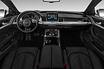 Stock photo of straight dashboard view of 2018 Audi S8 4.0-TFSI-quattro-Tiptronic-Plus  4 Door Sedan