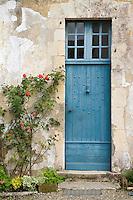 Europe/France/Aquitaine/40/Landes/ Chalosse/ Gaujacq: le Château, détail d'une porte