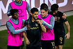 Carlos Vela of Los Angeles FC (USA) celebrates with team mates after scoring his second goal against Club America (MEX) during their CONCACAF Champions League Semi Finals match at the Orlando's Exploria Stadium on 19 December 2020, in Florida, USA. Photo by Victor Fraile / Power Sport Images