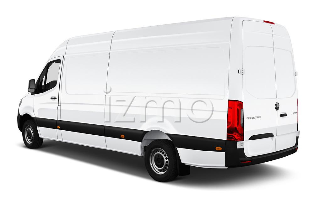 Car pictures of rear three quarter view of a 2019 Mercedes Benz Sprinter Cargo Van Base 4 Door Cargo Van angular rear