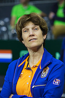September 10, 2014,Netherlands, Amsterdam, Ziggo Dome, Davis Cup Netherlands-Croatia, Training Dutch team, Team doctor Babette Pluim<br /> Photo: Tennisimages/Henk Koster