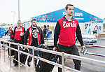 Kevin Rempel and Steve Arsenault, Sochi 2014. <br /> Team Canada arrives at the airport in Sochi for the Sochi 2014 Paralympic Winter // Équipe Canada arrive à l'aéroport de Sotchi pour Sochi 2014 Jeux paralympiques d'hiver. 28/02/2014.