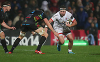 Friday 1st November 2019 | Ulster Rugby vs Zebre Rugby<br /> <br /> Rob Herring is tackled by Ian Nagle during the PRO14 Round 5 clash between Ulster Rugby and Zebre Rugby at Kingspan Stadium, Ravenhill Park, Belfast, Northern Ireland. Photo by John Dickson / DICKSONDIGITAL