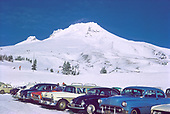 CS03667 Timberline Lodge parking lot and Palmer Snowfield area, Mt. Hood. process date January 1964