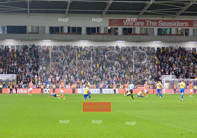 24/08/2021 Carabao Cup 2nd Round Blackpool v Sunderland <br /> <br /> Sunderland fans celebrate victory