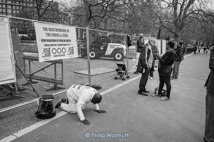 The Brotherhood of the Cross and the Star.  Speakers Corner, Hyde Park, London