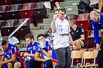Jens Buerkle (Trainer HBW Balingen) ; Jubel / BGV Handball Cup 2020 Halbfinaltag: TVB Stuttgart vs. HBW Balingen-Weilstetten am 11.09.2020 in Ludwigsburg (MHPArena), Baden-Wuerttemberg, Deutschland<br /> <br /> Foto © PIX-Sportfotos *** Foto ist honorarpflichtig! *** Auf Anfrage in hoeherer Qualitaet/Aufloesung. Belegexemplar erbeten. Veroeffentlichung ausschliesslich fuer journalistisch-publizistische Zwecke. For editorial use only.