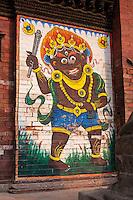 Nepal, Patan, Durbar Square.  Bhairab (Bhairav), a Fierce Manifestation of the Lord Shiva.
