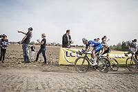 Niki Terpstra (NED/Quick Step Floors) chasing<br /> <br /> 116th Paris-Roubaix (1.UWT)<br /> 1 Day Race. Compiègne - Roubaix (257km)