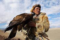 Kazak men at the Altai Eagle festival