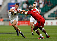 10th July 2021; Twickenham, London, England; International Rugby Union England versus Canada; Dan Kelly of England handing off in the tackle