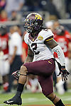 Minnesota Golden Gophers defensive back Troy Stoudermire (2) in action during the Meineke Car Care Bowl game of Texas between the Texas Tech Red Raiders and the Minnesota Golden Gophers at the Reliant Stadium in Houston, Texas. Texas defeats Minnesota 34 to 31.
