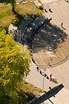Aerial View of Ankeny Plaza, Portland, Oregon