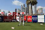 Alvaro Valasco (ESP) teeing off on the first during the final round  of the Omega Dubai Desert Classic 2011 on the Majlis Course, Emirates Golf Club, Dubai, UAE. 13/02/2011.Picture Fran Caffrey/www.golffile.ie.
