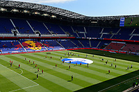 HARRISON, NJ - MARCH 08: Japan and England  players warm up during a game between England and Japan at Red Bull Arena on March 08, 2020 in Harrison, New Jersey.