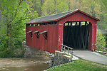 Owen County, Indiana:<br /> Cateract Falls Covered Bridge (1876) in early spring
