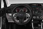 Car pictures of steering wheel view of a 2015 Subaru Forester 2.5I Pzev 5 Door SUV