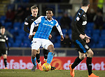 St Johnstone v Rangers…27.02.18…  McDiarmid Park    SPFL<br />Matty Willock gets bewteen Jason Cummings and Jamie Murphy<br />Picture by Graeme Hart. <br />Copyright Perthshire Picture Agency<br />Tel: 01738 623350  Mobile: 07990 594431