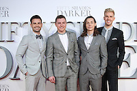 """Collabro<br /> at the """"Fifty Shades Darker"""" premiere, Odeon Leicester Square, London.<br /> <br /> <br /> ©Ash Knotek  D3223  09/02/2017"""