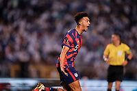 SAN PEDRO SULA, HONDURAS - SEPTEMBER 8: Antonee Robinson #5 of the United States scores a goal and celebrates during a game between Honduras and USMNT at Estadio Olímpico Metropolitano on September 8, 2021 in San Pedro Sula, Honduras.