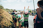 The publicity caravan passes by before the race during Stage 8 of the 2019 Tour de France running 200km from Macon to Saint-Etienne, France. 13th July 2019.<br /> Picture: ASO/Thomas Maheux   Cyclefile<br /> All photos usage must carry mandatory copyright credit (© Cyclefile   ASO/Thomas Maheux)
