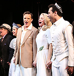 """John Pankow, Stephanie Styles, Will Chase, Kelli O'Hara, Corbin Bleu during the Broadway Opening Night Curtain Call for """"Kiss Me, Kate""""  at Studio 54 on March 14, 2019 in New York City."""