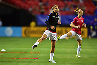 Atlanta, GA - Sunday Sept. 18, 2016: Tobin Heath prior to a international friendly match between United States (USA) and Netherlands (NED) at Georgia Dome.