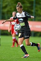 \e122\ with the ball during a female soccer game between Standard Femina de Liege and Eendracht Aalst dames on the fourth matchday in the 2021 - 2022 season of the Belgian Scooore Womens Super League , Saturday 11 th of September 2021  in Angleur , Belgium . PHOTO SPORTPIX | BERNARD GILLET