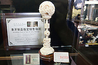 Ivory is seen on sale at Chen Clan Academy, an officially licenced retail outlet, as authorised by China's State Forestry Administration, Li Wan District, Guangzhou, Guangdong Province, China, 28 November 2013. <br /> <br /> Photo by Alex Hofford / Sinopix