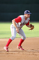 June 27th 2008:  Infielder Cody Overbeck (31) of the Williamsport Crosscutters, Class-A affiliate of the Pittsburgh Pirates, during a game at Russell Diethrick Park in Jamestown, NY.  Photo by:  Mike Janes/Four Seam Images