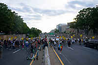 Demonstrators block Interstate 395 in Washington, D.C., U.S., on June 15, 2020 to mark two weeks from the day that police cleared protesters from the area just prior to United States President Donald J. Trump's photo-op at St. John's Church.  Credit: Stefani Reynolds / CNP/AdMedia/AdMedia