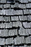 Europe/France/Aquitaine/64/Pyrénées-Atlantiques/Plateau d'Iraty: Détail du toit d'un cayolar en bardeaux de bois