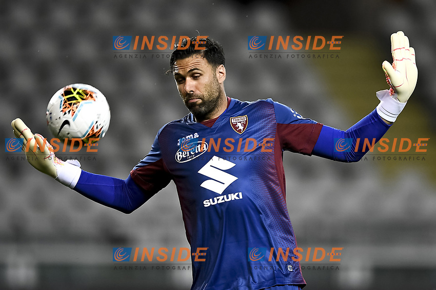 Salvatore Sirigu of Torino FC in action during the Serie A football match between Torino FC and Udinese at Olimpico stadium in Torino ( Italy ), June 23th, 2020. Play resumes behind closed doors following the outbreak of the coronavirus disease. <br /> Photo Image Sport / Insidefoto