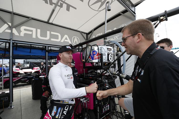 #60: Meyer Shank Racing w/Curb-Agajanian Acura DPi, DPi: Olivier Pla, fans, grid