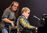 Bassist Bob Birch and Sir Elton John perform at the 1st Mariner Arena in Baltimore, Md. March 26, 2011..Copyright EML/Rockinexposures.com.