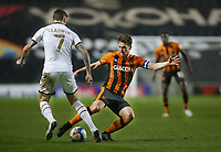 Hull City's Richard Smallwood and Milton Keynes Dons' Ben Gladwin<br /> <br /> Photographer Rob Newell/CameraSport<br /> <br /> The EFL Sky Bet League One - MK Dons v Hull City - Saturday 21st November 2020 - Stadium MK - Milton Keynes<br /> <br /> World Copyright © 2020 CameraSport. All rights reserved. 43 Linden Ave. Countesthorpe. Leicester. England. LE8 5PG - Tel: +44 (0) 116 277 4147 - admin@camerasport.com - www.camerasport.com