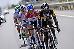 Adrien Niyonshuti (RWA) Team MTN Qhubeka leads the breakaway group during Stage 2 of the 2015 Presidential Tour of Turkey running 182km from Alanya to Antalya. 27th April 2015.<br /> Photo: Tour of Turkey/Stiehl Photography/Mario Stiehl/www.newsfile.ie