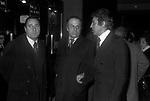 ALBERTO SORDI CON PIERO PICCIONIE WALTER CHIARI<br /> TEATRO SISTINA ROMA 1976