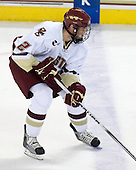Brian Dumoulin (BC - 2) - The Boston College Eagles defeated the Merrimack College Warriors 4-3 on Friday, October 30, 2009, at Conte Forum in Chestnut Hill, Massachusetts.