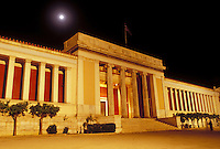 Athens, Greece, Europe, National Archaeological Museum in the evening in downtown Athens.