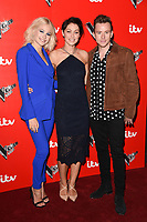 Pixie Lott, Emma Willis and Danny Jones<br /> at the launch of The Voice Kids, Madame Tussauds, London. <br /> <br /> <br /> ©Ash Knotek  D3273  06/06/2017