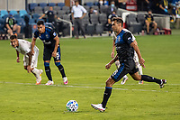 SAN JOSE, CA - SEPTEMBER 05: Chris Wondolowski #8 scores from the penalty spot during a game between Colorado Rapids and San Jose Earthquakes at Earthquakes Stadium on September 05, 2020 in San Jose, California.