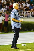 BARRANQUILLA-COLOMBIA, 20-11-2019: Julio Comesaña, técnico de Atlético Junior, durante partido entre Atlético Junior y Atlético Nacional, de la fecha 4 de los cuadrangulares semifinales por la Liga Águila II 2019, jugado en el estadio Metropolitano Roberto Meléndez de la ciudad de Barranquilla. / Julio Comesaña, coach of Atletico Junior during a match between Atletico Junior and Atletico Nacional of the 4th date of the quarter semifinals for the Aguila Leguaje II 2019 played at the Metropolitano Roberto Melendez Stadium in Barranquilla city. / Photo: VizzorImage / Alfonso Cervantes / Cont.