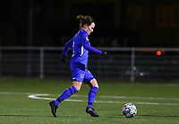 defender Silke Sneyers (2) of KRC Genk pictured during a female soccer game between  Racing Genk Ladies and RSC Anderlecht on the 16 th matchday of the 2020 - 2021 season of Belgian Scooore Womens Super League , friday 12 th of March 2021  in Genk , Belgium . PHOTO SPORTPIX.BE   SPP   SEVIL OKTEM